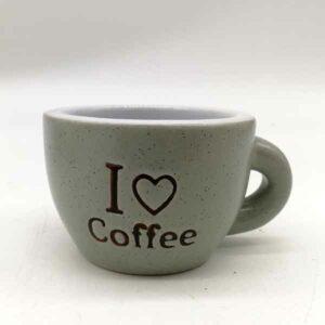 set 6 tazzine da caffè I love coffee