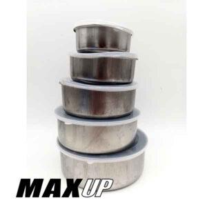 set contenitori in alluminio 5 pezzi
