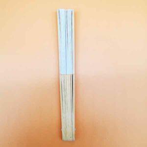 Ventaglio legno-carta bianco
