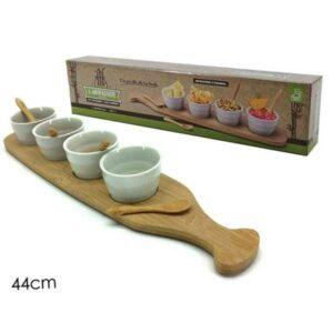 4 antipastiere in ceramica