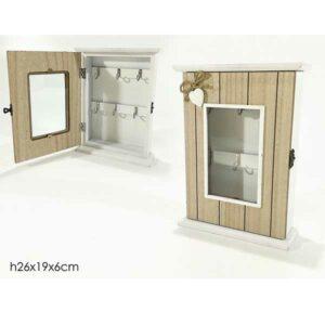 Cassetta portachiavi in legno con finestra