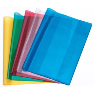 Copri quaderno trasparente con alette