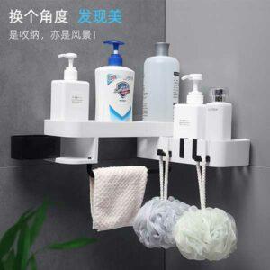 Mensoletta bagno angolare in plastica