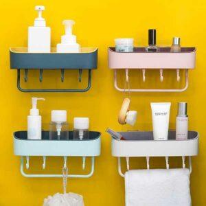 Porta oggetti da bagno con gancetti