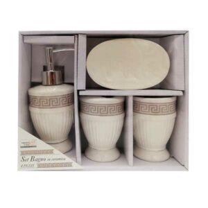 Set bagno portasapone in ceramica