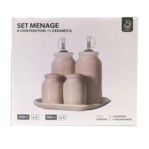 Set menage 4 contenitori in ceramica