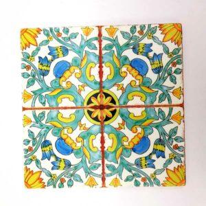 sottopentola stile Vietri in ceramica