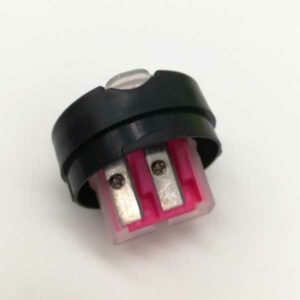 Temperamatite con serbatoio 2 fori color fluo