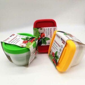 3 contenitori multiuso con coperchio ermetico