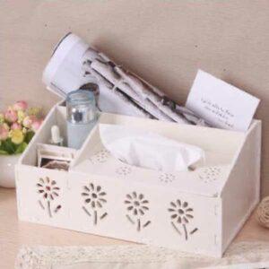 Porta salviette e oggetti grande bianco