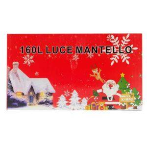 Luci natalizie a mantello led 160 pezzi