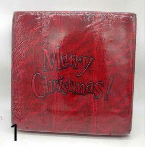 Pouf natalizio mastro bianco musicale