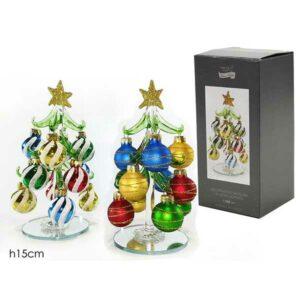 Alberello natalizio in vetro soffiato