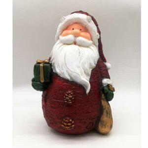 Babbo Natale rosso effetto legno