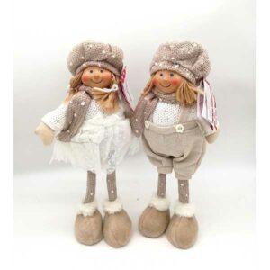 Bambola Natalizia alzata beige 20814