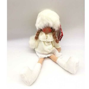 Bambola Natalizia seduta bianca 20820