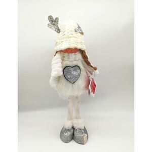 Bambola natalizia fatina bianca alzata 21162