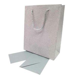 Busta glitterata con foglio