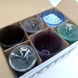 Set 6 calici Color in vetro