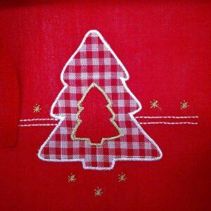 Cestino pane natalizio in stoffa