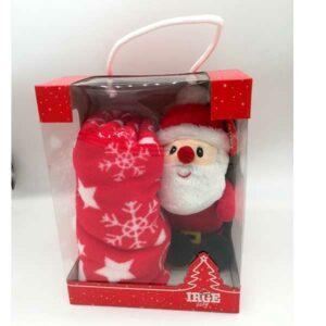 Confezione natalizia copertina e pupazzo