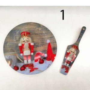 Piatto con paletta natalizio in ceramica