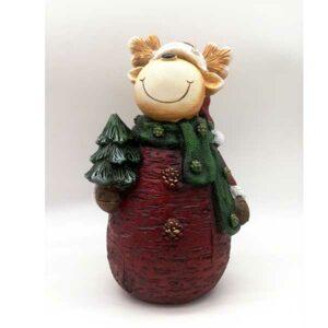 Renna natalizia effetto legno